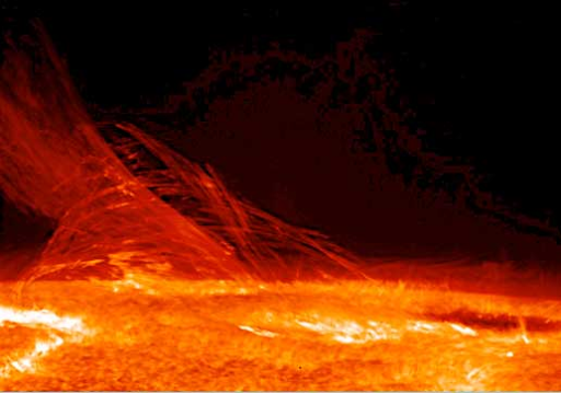 A stream of plasma jets out of the Sun