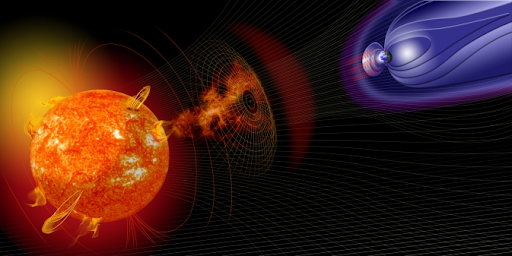 The Sun sneezes a mass of plasma at the Earth's magnetosphere